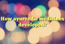 How ayurvedic medicines developed?